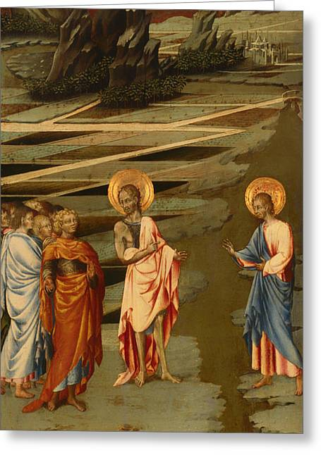 Ecce Paintings Greeting Cards - Ecce Agnus Dei  Greeting Card by Giovanni di Paolo