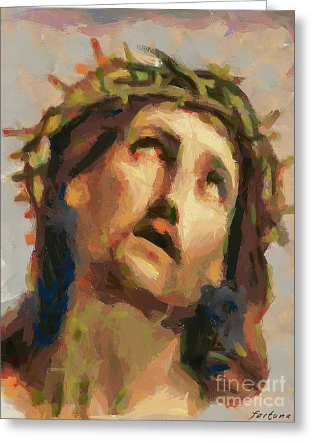 Pontius Greeting Cards - Ecce Homo Greeting Card by Dragica  Micki Fortuna