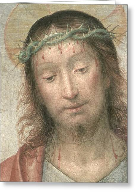 Droplet Paintings Greeting Cards - Ecce Homo Greeting Card by Fra Bartolommeo