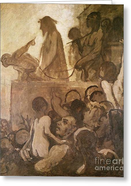 Prisoner Paintings Greeting Cards - Ecce Homo Greeting Card by Honore Daumier