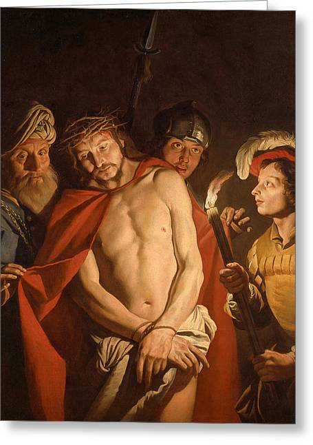 Ecce Paintings Greeting Cards - Ecce Homo Greeting Card by Matthias Stom