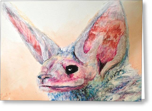 Bad Ass Pastels Greeting Cards - Ecco Greeting Card by Rachel  Jones