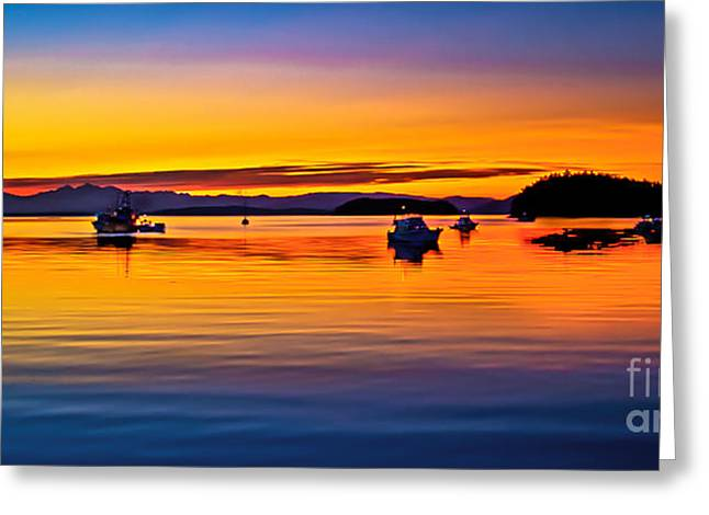 Echo Bay Sunset Greeting Card by Robert Bales