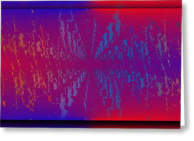 Abstract Waves Greeting Cards - Echo Echo Echo Greeting Card by Tim Allen