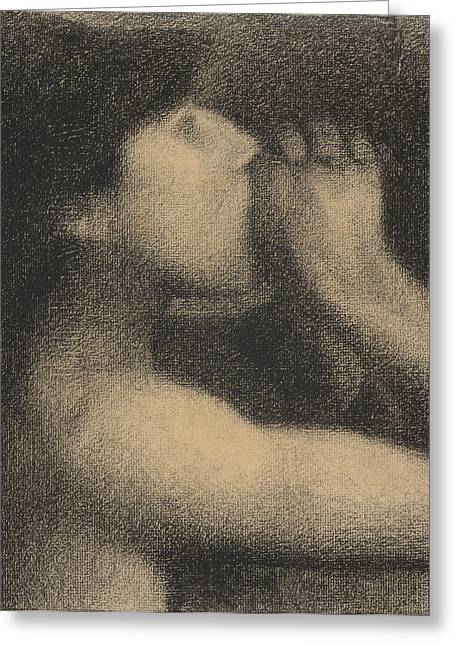 Canvas Pastels Greeting Cards - Echo Greeting Card by Georges Pierre Seurat