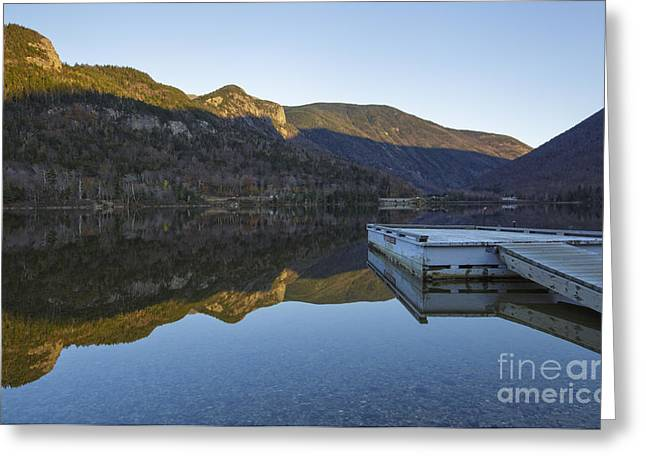 Calm Waters Greeting Cards - Echo Lake - Franconia Notch State Park New Hampshire USA Greeting Card by Erin Paul Donovan