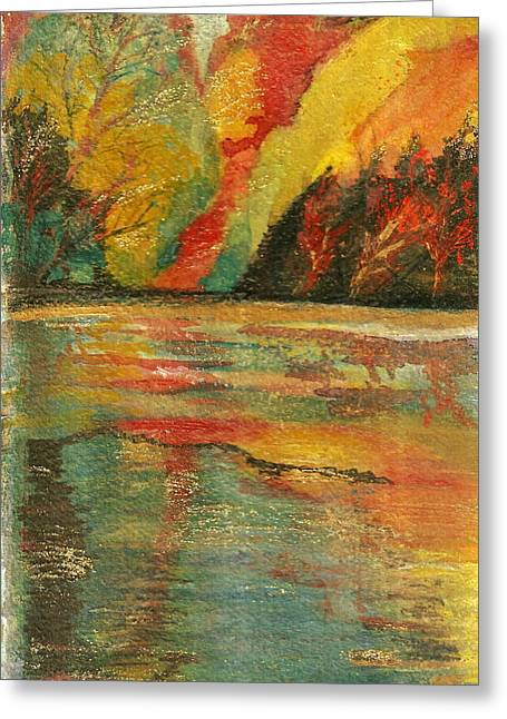 Anne-elizabeth Whiteway Greeting Cards - Echo Lake  Greeting Card by Anne-Elizabeth Whiteway