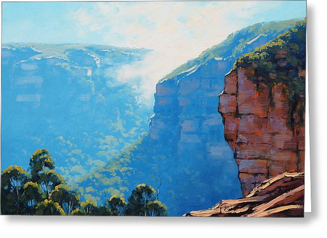 Echo Greeting Cards - Echo Point Katoomba Greeting Card by Graham Gercken