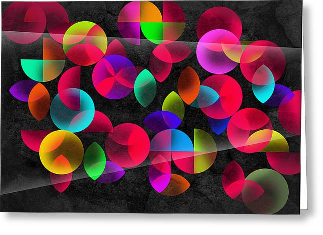 Geometric Shape Greeting Cards - Echoes Greeting Card by Mark Ashkenazi