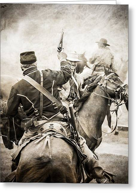 Saddle Greeting Cards - Echoes of Battle Greeting Card by Steven Bateson