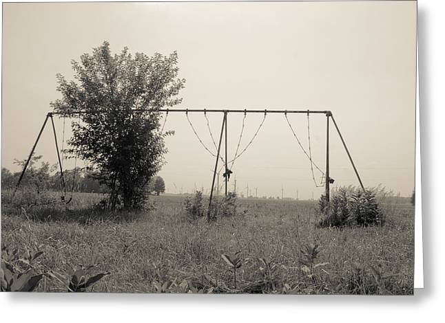 Swingset Greeting Cards - Echoes Of Childrens Laughter  Greeting Card by Off The Beaten Path Photography - Andrew Alexander
