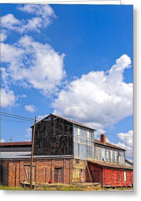 Tin Roof Greeting Cards - Echoes Of Industry - Small Town Georgia Greeting Card by Mark Tisdale