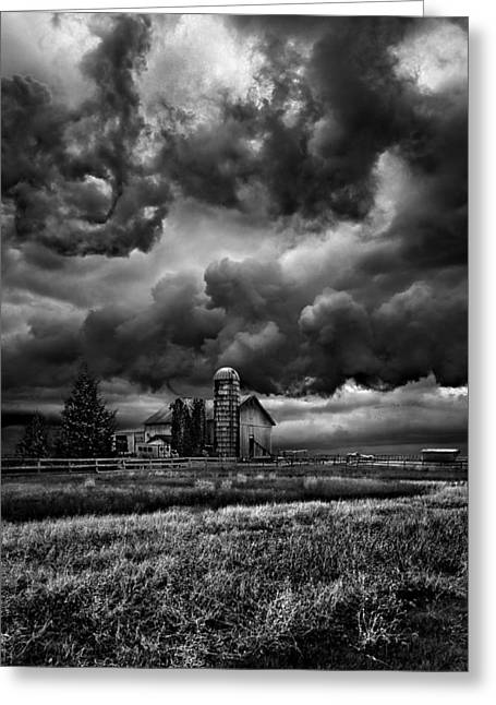 Summer Storm Photographs Greeting Cards - Echos Greeting Card by Phil Koch