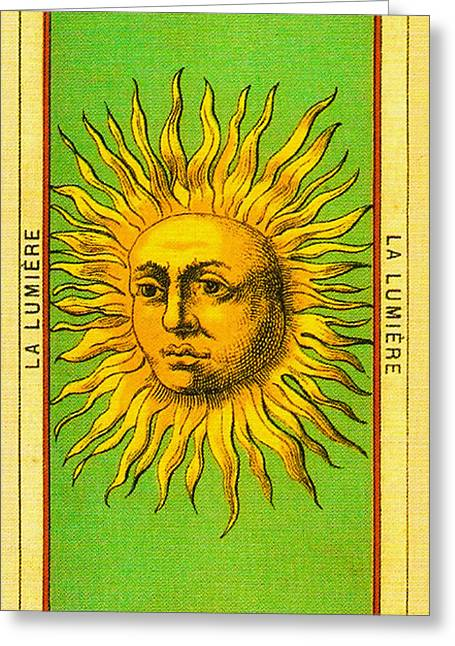 Lumiere Greeting Cards - Eclaircissement - La Lumiere Tarot Card Greeting Card by Digital Reproductions