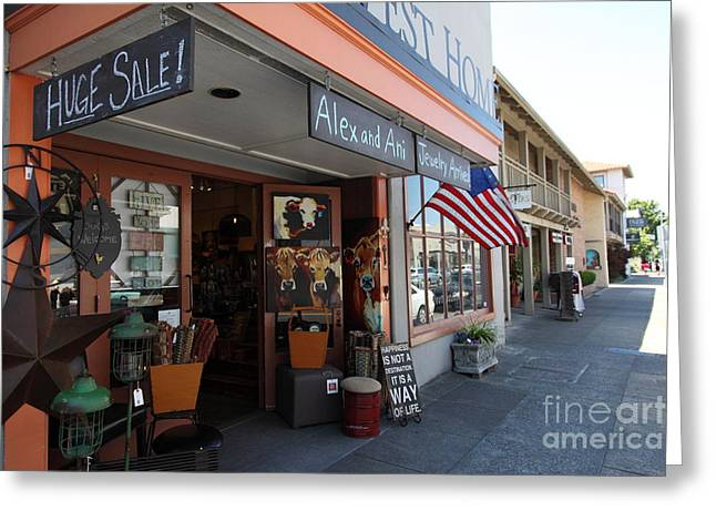 Sonoma Greeting Cards - Eclectic Americana Storefront In Downtown Sonoma California 5D24475 Greeting Card by Wingsdomain Art and Photography