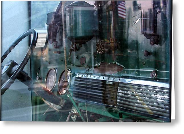 Old Trucks Digital Greeting Cards - Eclectic by Chevy Truck Greeting Card by Steven  Digman