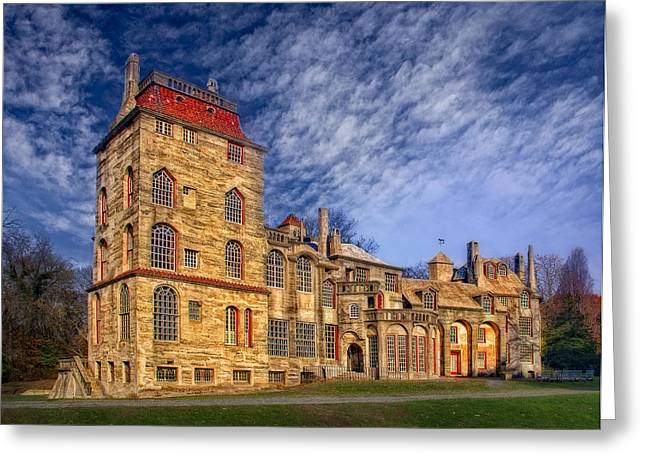 Eclectic Castle Greeting Card by Susan Candelario