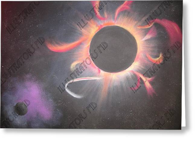 Solar Eclipse Pastels Greeting Cards - Eclipse Greeting Card by Daniel Woo