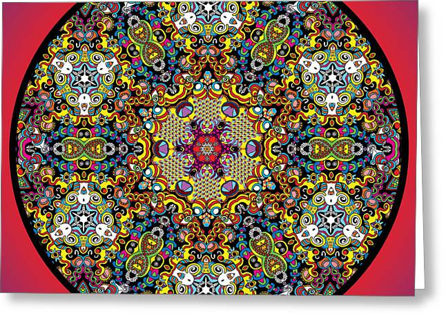 Fractal Eclipse Greeting Cards - Eclipse Greeting Card by Hector Guillen