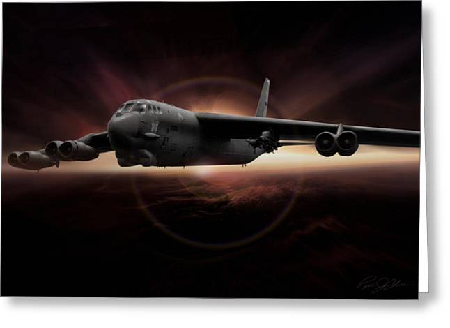 B-52 Greeting Cards - Eclipse Greeting Card by Peter Chilelli