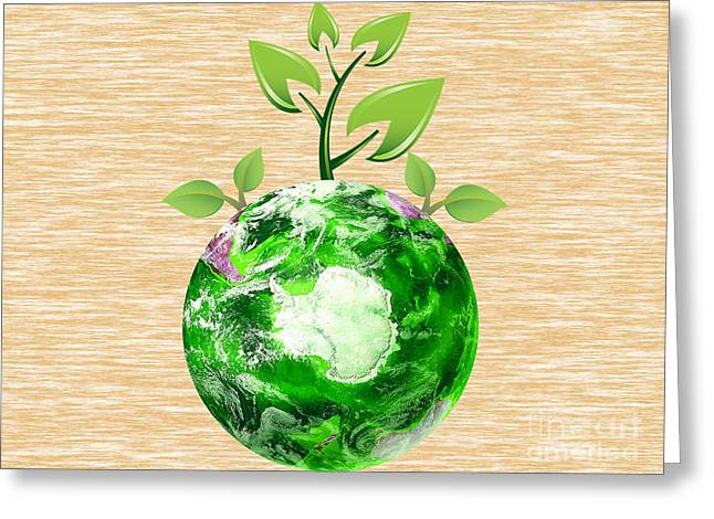 Eco Greeting Cards - Eco Living Greeting Card by Marvin Blaine