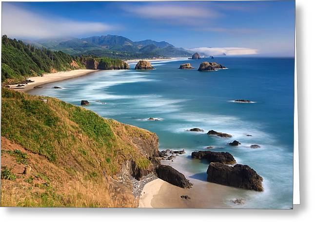 Ecola Afternoon Greeting Card by Katherine Gendreau
