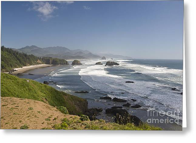 Ecola State Park Oregon Greeting Card by Beth Wolff