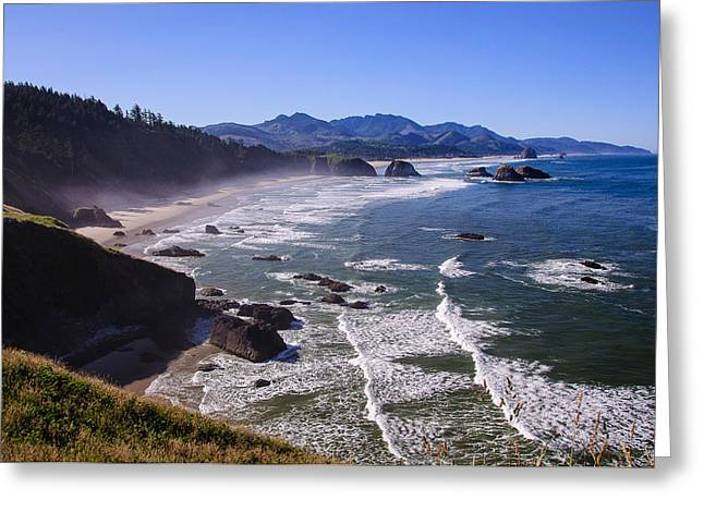 Ecola Point Greeting Card by Gordon Banks