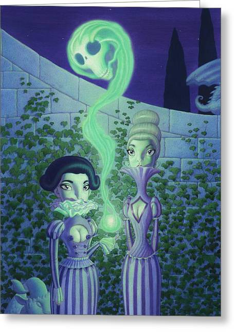 Glowing Mixed Media Greeting Cards - Ectoplasm Greeting Card by Richard Moore