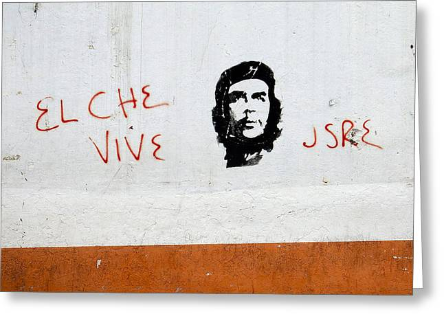 Che Greeting Cards - Ecuador Street Art Che Greeting Card by Kurt Van Wagner