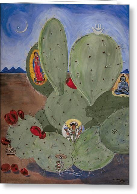 Ecumenical Greeting Cards - Ecumenical Cactus Greeting Card by Illusions Maya