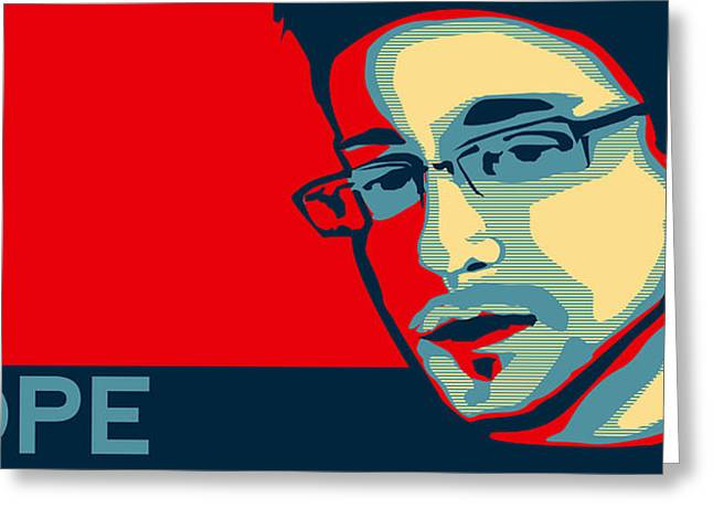 Desperate Greeting Cards - Ed Snowden Hope Greeting Card by Mountain Dreams