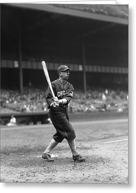 Historical Pictures Greeting Cards - Eddie Collins Sr. Left Handed Swing Greeting Card by Retro Images Archive