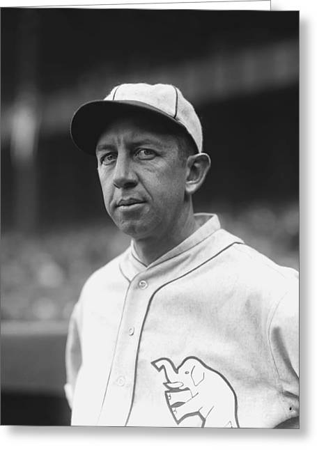 Historical Pictures Greeting Cards - Eddie Collins Sr. Looking Into Camera Greeting Card by Retro Images Archive