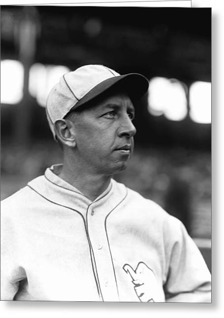 Mvp Greeting Cards - Eddie Collins Sr. Looking Off Greeting Card by Retro Images Archive