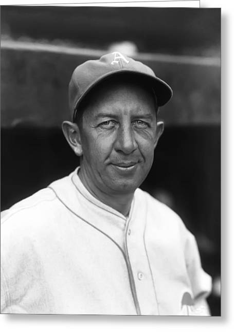 Historical Pictures Greeting Cards - Eddie Collins Sr. Poses For Photo Greeting Card by Retro Images Archive