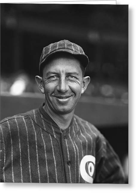 Mvp Greeting Cards - Eddie Collins Sr. Smiling Greeting Card by Retro Images Archive