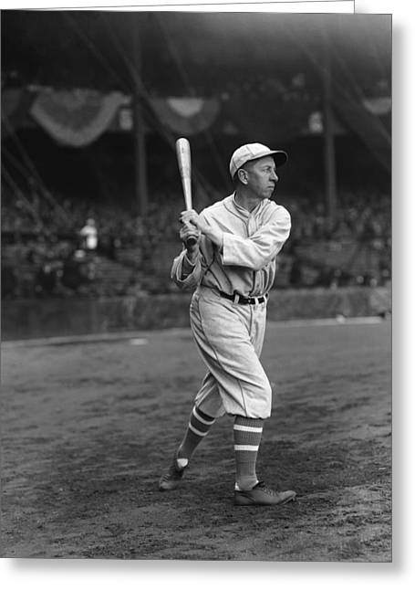 Historical Pictures Greeting Cards - Eddie Collins Sr. Swing Pre Game Greeting Card by Retro Images Archive