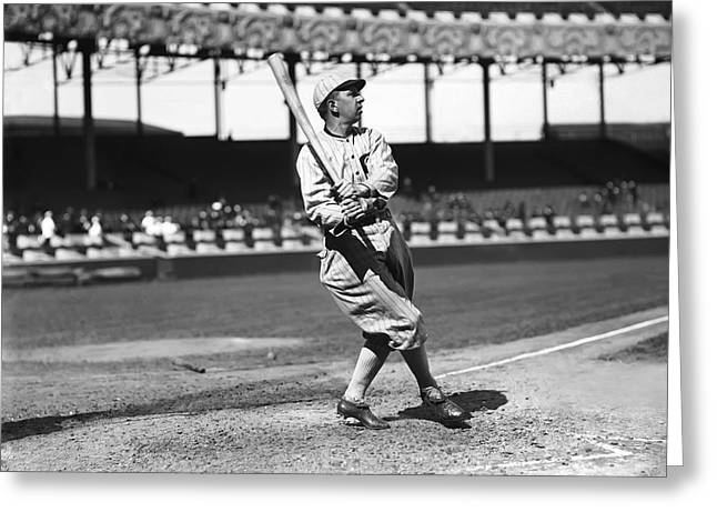 Mvp Greeting Cards - Eddie Collins Sr. Swinging Greeting Card by Retro Images Archive