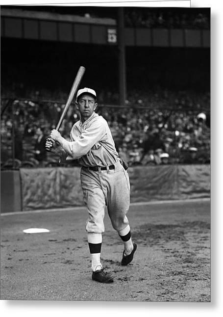 Mvp Greeting Cards - Eddie Collins Sr. Warm Up Swing Greeting Card by Retro Images Archive