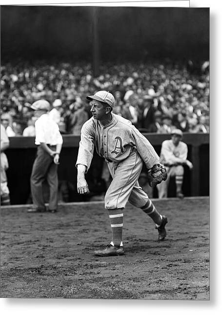 Mvp Greeting Cards - Eddie Collins Sr. Warming Up Greeting Card by Retro Images Archive