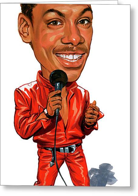 Murphy Greeting Cards - Eddie Murphy Greeting Card by Art
