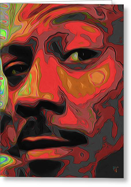 Print On Canvas Greeting Cards - Eddie Murphy Greeting Card by  Fli Art