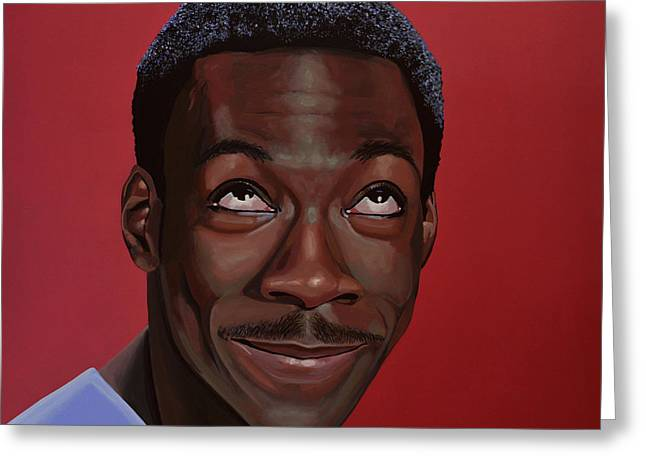 Writer Greeting Cards - Eddie Murphy Greeting Card by Paul Meijering