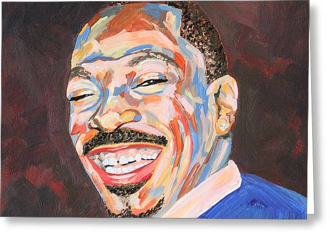 Best Supporting Actor Greeting Cards - Eddie Murphy Portrait Greeting Card by Robert Yaeger