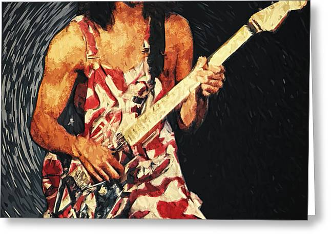 Eddie Van Halen Greeting Card by Taylan Soyturk