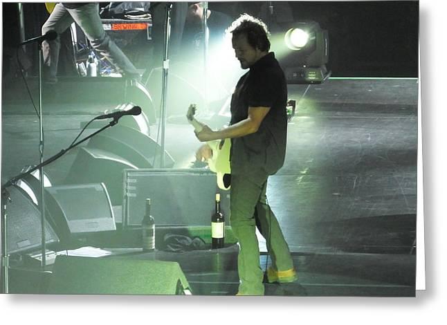 Pearl Jam Photographs Greeting Cards - Eddie Vedder-Moline  Greeting Card by Gary Koett