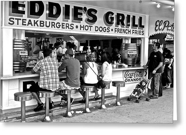 French Fries Greeting Cards - Eddies Grill Greeting Card by Frozen in Time Fine Art Photography