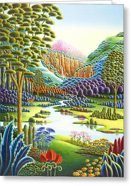 Imagined Landscape Greeting Cards - Eden Greeting Card by Andy Russell