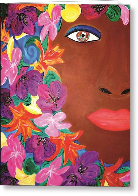 Exhibitionist Greeting Cards - Eden Greeting Card by Janeen Stone Morehead